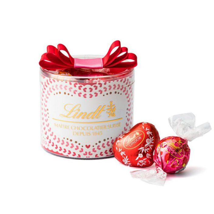 バレンタインリンドールリボンギフトボックス